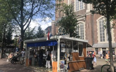 Typical Dutch fish stall in Amsterdam