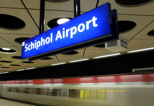 How to get to Schiphol train station from the airport