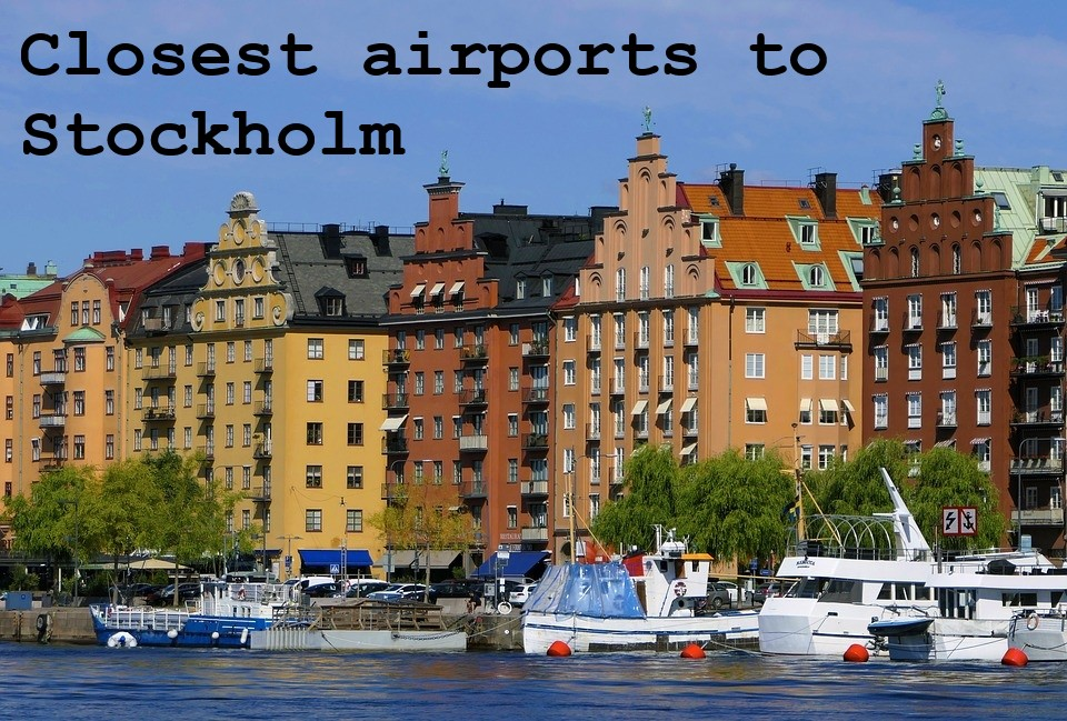 airport close to Stockholm