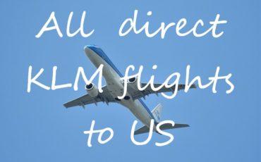 KLM flights to US
