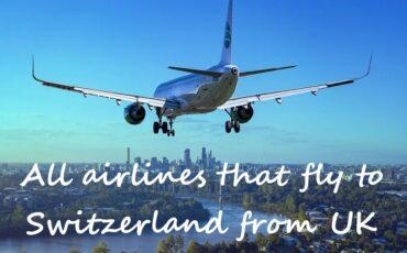 All flights from UK to Switzerland