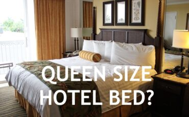 queen size hotel bed