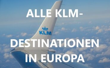 KLM-Destinationen in Europa