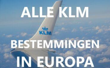 KLM bestemmingen Europa