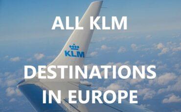 KLM destinations in Europe
