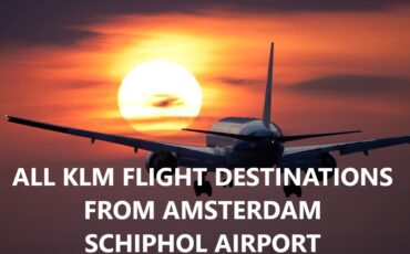 KLM flight destinations from Amsterdam Schiphol airport