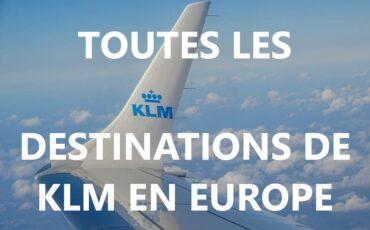 destinations de KLM en Europe