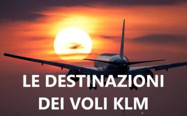 destinazioni dei voli KLM