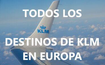 destinos de KLM en Europa