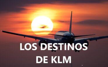 los destinos de KLM