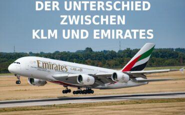 Der Unterschied zwischen KLM und Emirates