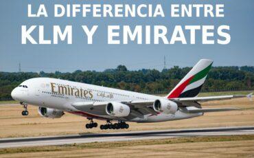 La diferencia entre KLM y Emirates