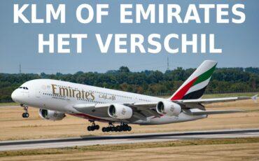 verschil KLM Emirates