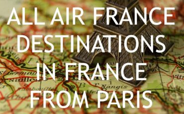 Air France destinations in France from Paris