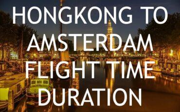 flight time Hongkong to Amsterdam