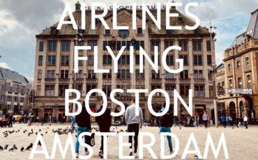 arlines flying boston amsterdam