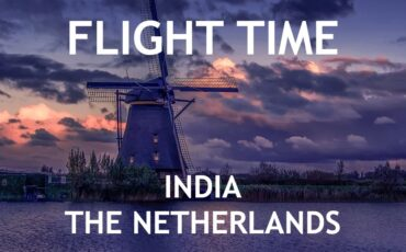 how long is the flight time from India to The Netherlands