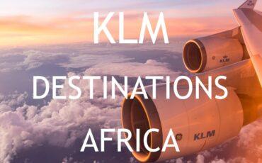KLM destinations Africa